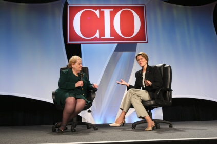 Interviewing former Secretary of State Madeleine Albright at the first CIO Year Ahead conference.